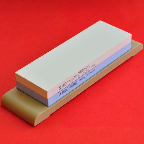 Japón Waterstone Doble Piedra de afilar nitidez Duo # 1000//3000 Grande Modelo Japon Cuchillo