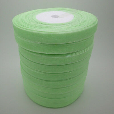 """hot sale Our Price 50Yards 3/8"""" Edge Sheer Organza Ribbon Craft Satin many color"""