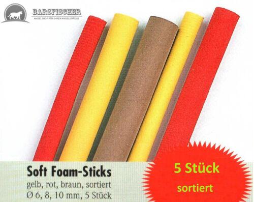 SOFT FOAM-STICKS  ∅ 6,8,10mm 5 Stück CARPFISHING