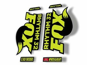 FOX 32 Rhythm 2019 Forks Suspension Factory Decal Sticker Adhesive Lime Green