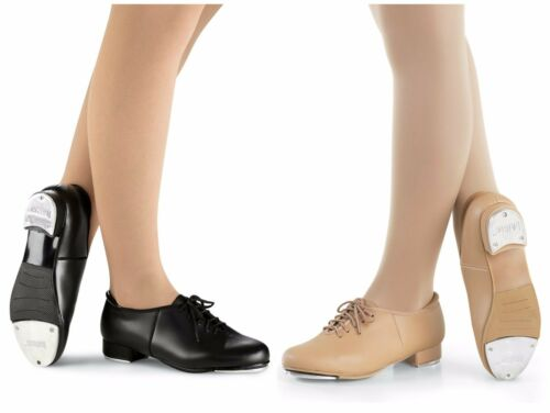 NEW Capezio Tapster or Balera Lace up Black Caramel Tap Shoes Child /& Adult Size