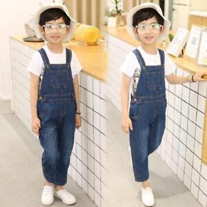Kids Boys Girl Denim Jumpsuits Overalls Bib Suspenders Pants Jeans Romper  Casual | eBay