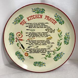 Image Is Loading Vintage The Kitchen Prayer Plate Wall Hanging 10