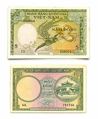 South Vietnam Paper Money 2 Dong 1955 Used