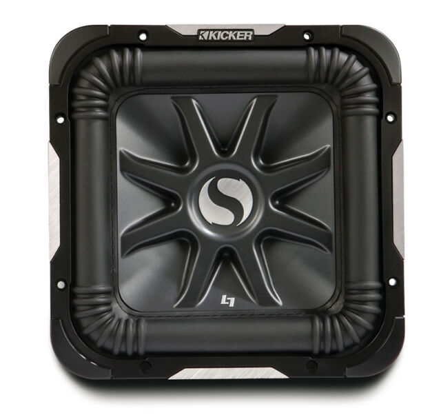 Kicker S15L7 D2 Car Audio Square 15 Inch L7 Dual 2 Ohm 2000 Watt Subwoofer New