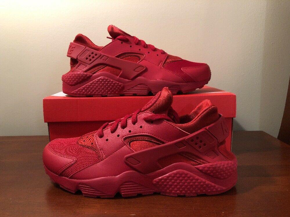 Nike Air Huarache Triple Varsity Red October 318429-660 Size 12