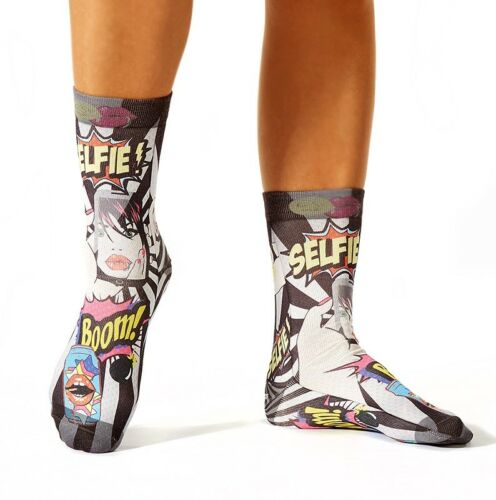 wigglesteps Socken Dry Touch® bunt 36-40 Graffiti Selfie Boom grau schwarz