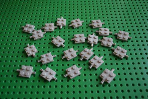 Lego 20 Stück 4600 Technic Achsplatte Achse 2x2 alt-hellgrau 2 Pins