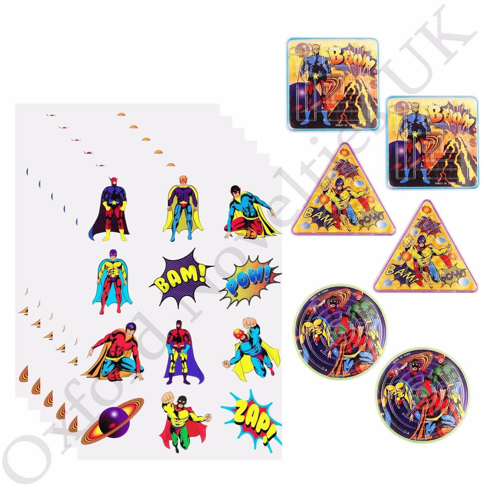 Super Hero Maze Puzzle Loot Bag Filler For Kids