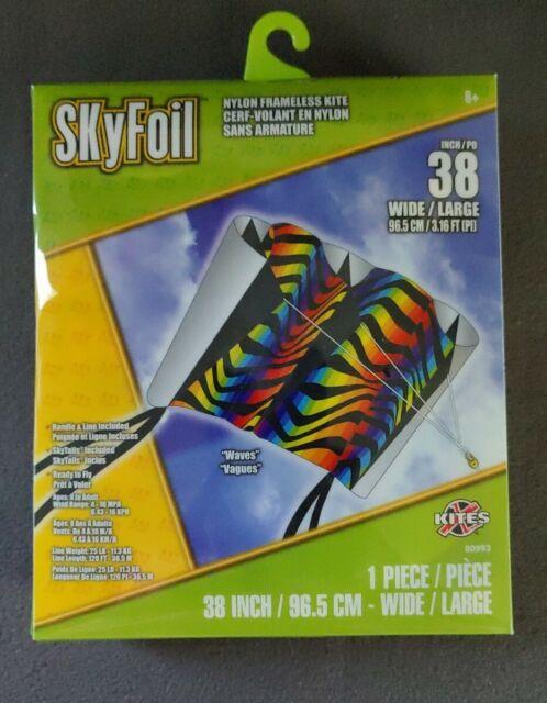 38 Inches Rainbow X-Kites SkyFoil Nylon Frameless Kite