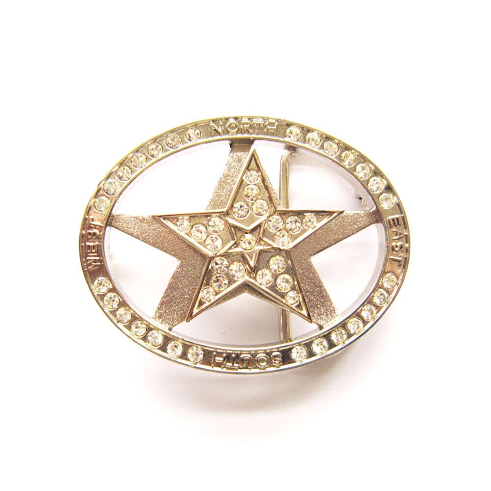 Spinning Star Gürtelschnalle Sheriff Star Sheriff's Badge Sheriffstern Stern