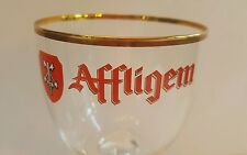 AFFLIGEM ABBEY ALE BELGIAN BEER POKAL (TALL) GLASS WITH GOLD TRIM
