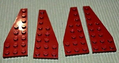 3 4x6 Red Standard Plate Bricks ~ Lego ~ NEW ~ Castle
