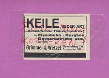 Gevelsberg, Pubblicità 1936, grimmel & Karlsbad cunei