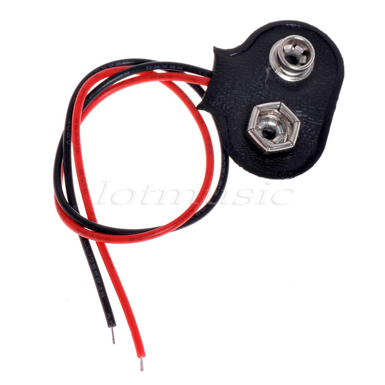 9 volt wiring harness 9 pin wiring harness for car radio 50pcs battery snap connector 9v volt clip on type lead ...