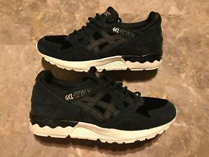 san francisco 8ab06 17978 Details about Women's ASICS GEL-LYTE V Black Suede Running Trainers  Sneakers Size 8 H76VQ USED