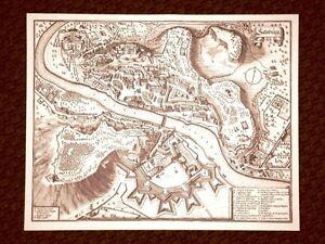 Salisburgo-Salzburg-Austria-Incisione-di-Merian-Matthaus-del-1640-Ristampa