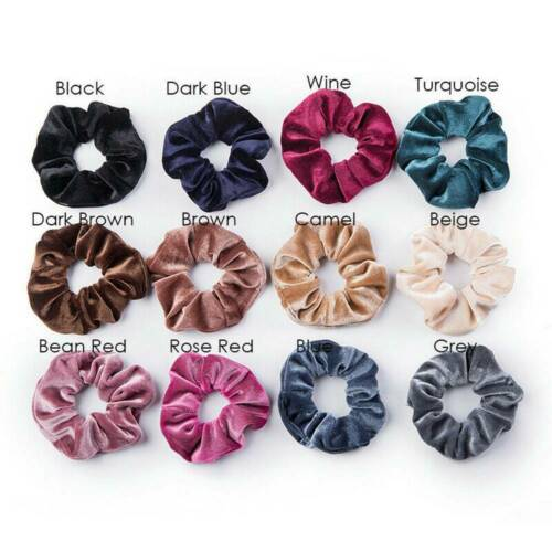 12 Pcs Velvet Hair Scrunchies Hair Ties Elastic Hair Bands Ropes For Girls Women