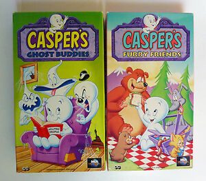 Details about Casper the Friendly Ghost Animated Cartoon VHS Lot 2 Furry  Friends Ghost Buddies