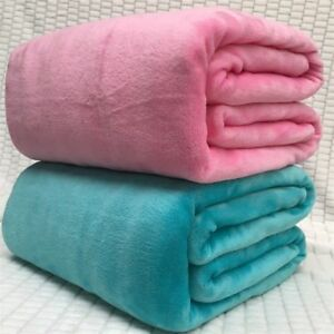 43d0cceb2a Soft Warm Blanket Sofa Throw Plush Bed Bedding Solid Thick Textile ...