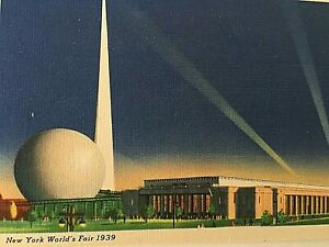 VTG-1939-New-York-World-039-s-Fair-Postcard-New-York-City-Building-Q1