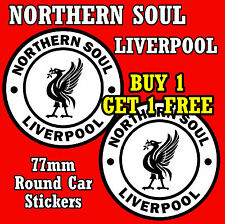 NORTHERN SOUL LIVERPOOL- CAR / WINDOW STICKERS  PLUS 1 FREE - NEW - FREE POSTAGE