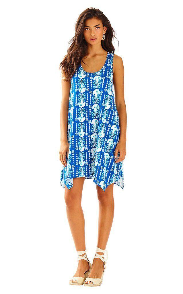 NWT Lilly Pulitzer Melle Dress in Indigo Get in Line sz Medium