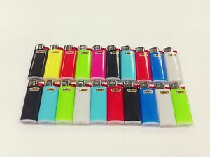 Details about 20 MINI BIC LIGHTER ASSORTED COLORS NEW SMALL SIZE BIC WITH  FLUID NOT REFILLABLE