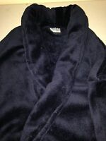 MEN'S DARK NAVY BLUE Plush Spa Robe, Comfortable, Warm *BRAND NEW*