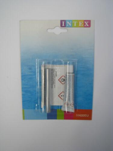 1 Set Intex Reparatur Kleber Flicken mit Kleber PVC Pool Boot Luftmatratze uvm.