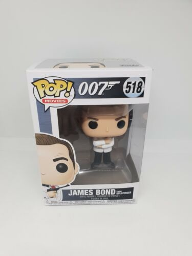 Vinyl Figure of James Bond from Goldfinger 518 movies white GTC2 007 Funko Pop