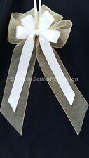 10 Antennenschleifen Autoschleifen Antennenschleife Hochzeit Schleifen gelb weiß