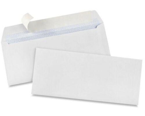 "100 x #9 Self-Seal White Business Envelopes 3 7⁄8 x 8 7⁄8/"""