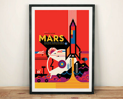 Visions of the Future NASA POSTER Venus Planet Space Travel Print by JPL