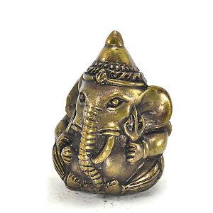 Lord Ball Ganesha Elephant Brass Statues Hindu God Spirituality Thai