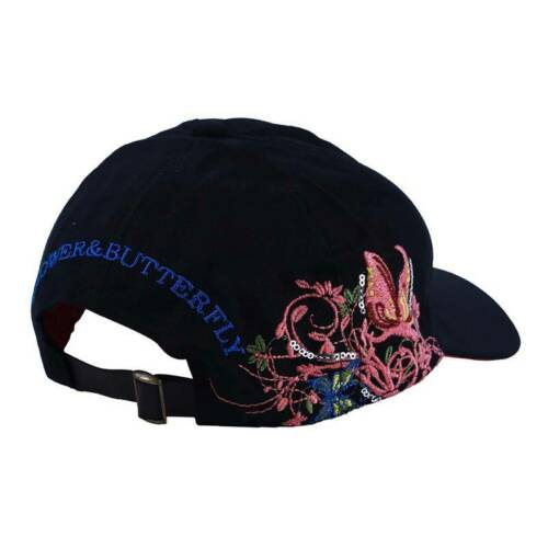 Fashion Women Men Sequin Butterfly Embroidered Baseball Cap Caps Q