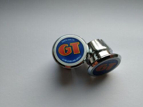 GT Santa Ana CA Handlebar End Plugs Bar Caps lenkerstopfen bouchons silver flat