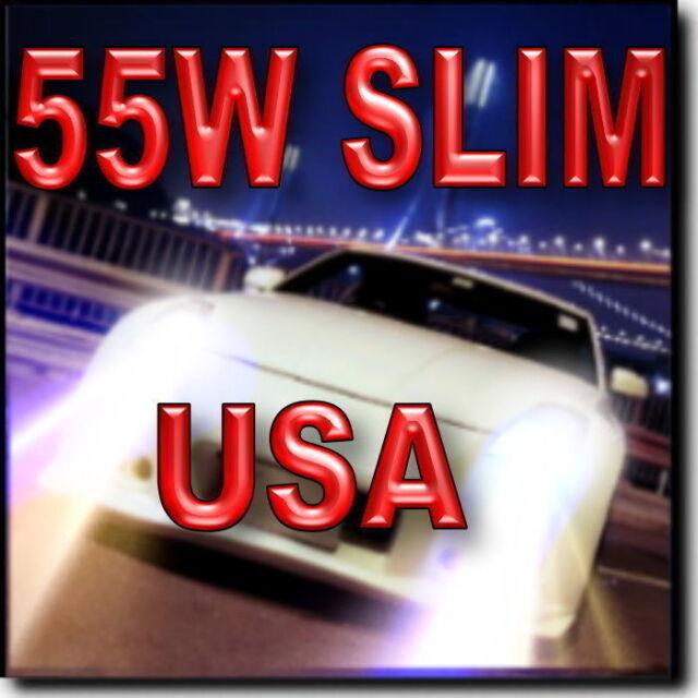 55W 9006 XENON HID CONVERSION KIT FOR LOW BEAM 4300K 6000K 8000K 10000K @