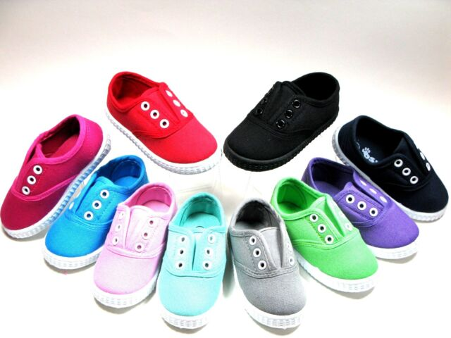 SlipOn For Baby Toddler Girls Or Boys Canvas Shoes Sizes 4 5 6 7 8 9