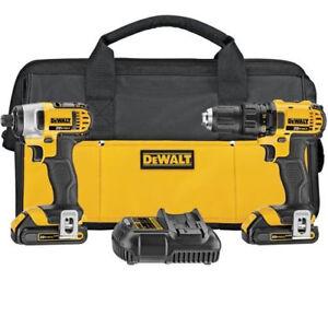 DEWALT-20V-MAX-1-5-Ah-Li-Ion-1-2-in-Drill-amp-Impact-Combo-Kit-DCK280C2-Recon