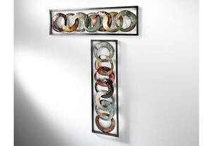 Wandbild 2er set aus metall wanddeko metallbild for Wandschmuck aus metall
