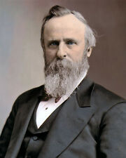 "RUTHERFORD B HAYES 19th US PRESIDENT  CIVIL WAR 8x10"" HAND COLOR TINTED PHOTO"