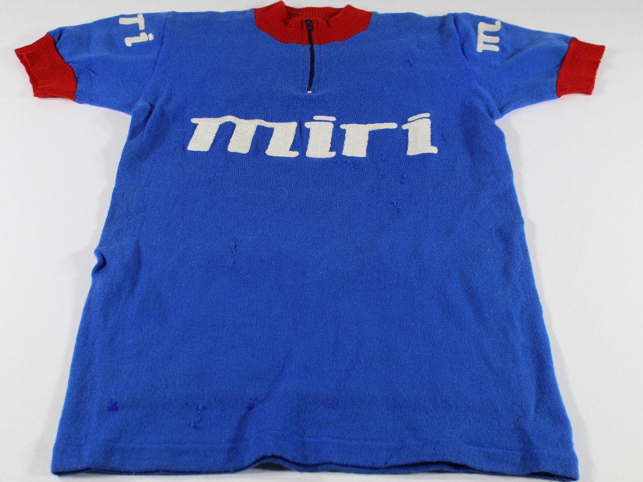 Vintage ciclismo Cycling maglia jersey whool lana maillot tg Größe 3 Miri Zannoni