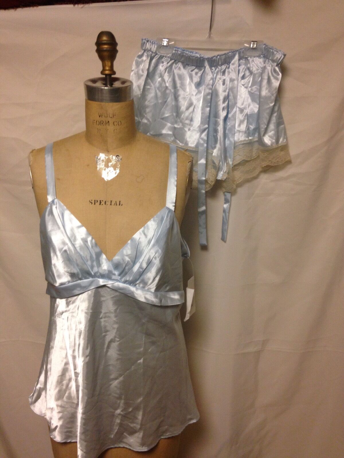 Flora Nikrooz 2 piece Cami and Lace Trim Short Set XL bluee T8883 New with Tags