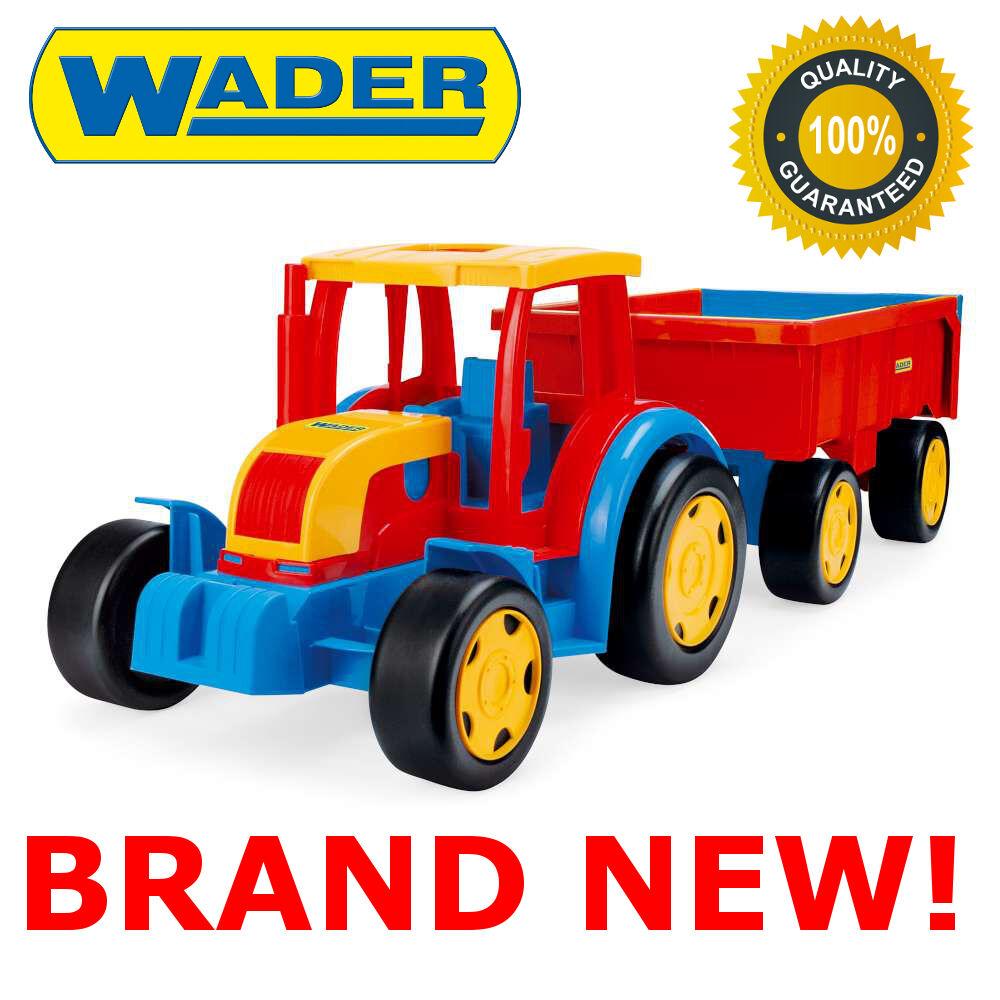 new géant tracteur 102 cm de long avec remorque jouet mieux glisser chariot pour les enfants