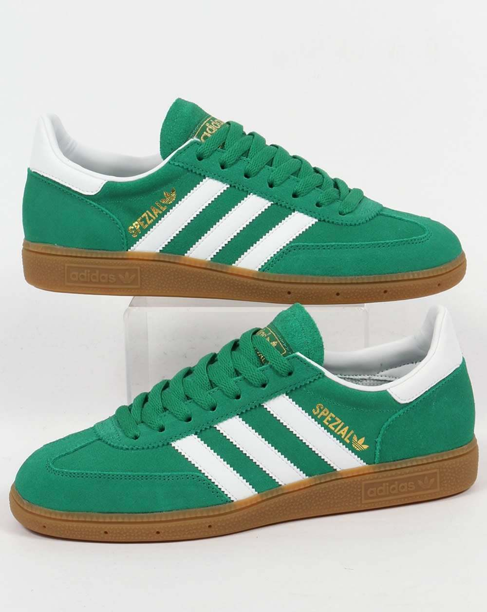 6f3ec5a8ac3e lovely Adidas Originals - Adidas Spezial Trainers in Green   White- suede  gum sole