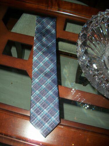 new BRIONI blue checked silk power tie Italy $230 Neiman