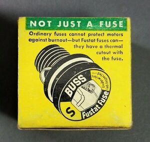 NOS-Bussmann-Buss-Fustat-Time-Delay-Fuses-Type-S-10-Box-of-4-Fuses