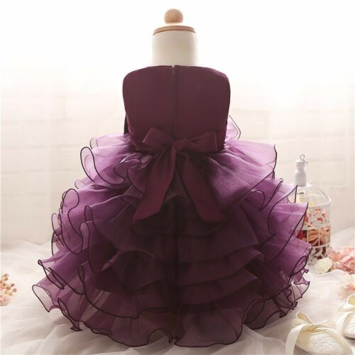 Toddler mariage bébé fille robe sans manches robe de perles Bow Partie Enfants Vêtements UK