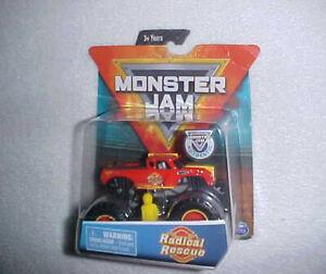 """MONSTER JAM TRUCKS """"RADICAL RESCUE"""" NEW VHTF 1/64 DIECAST 4X4 MONSTER TRUCK"""